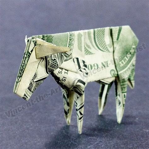 origami cow dollar bill origami cow play with your paper money fold