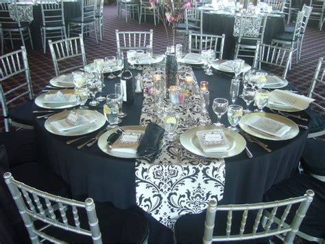 black blue and silver table settings elegant wedding table design my tucson wedding
