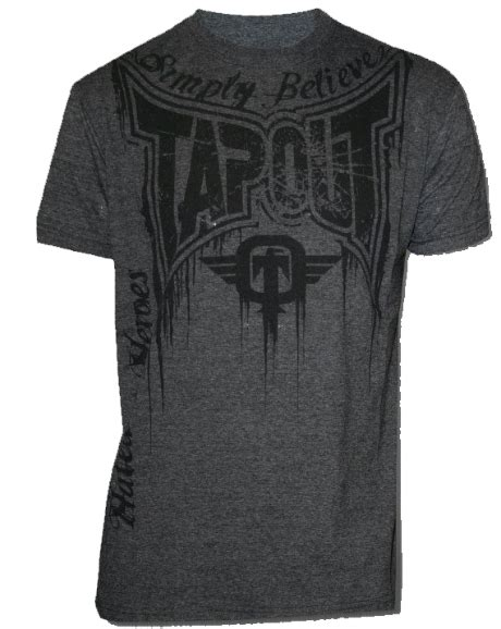 Tap Out Fightshorts Grey tapout or die charcoal t shirt