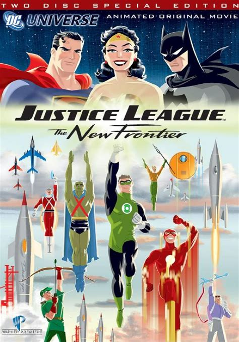 movie justice league new frontier dc animated universe dvds my favourites comic book daily