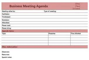 Free Business Meeting Agenda Template Sample Business Meeting Agenda Image Search Results