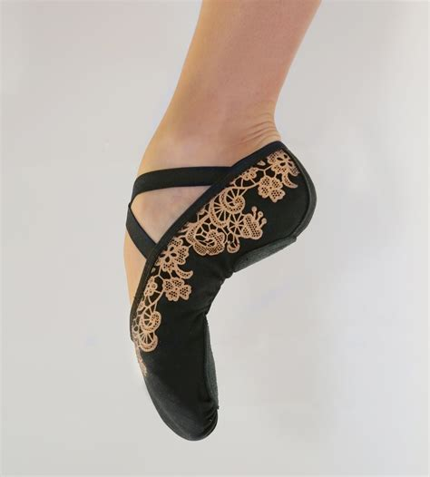 lace slippers micro lace ballet slippers grishko
