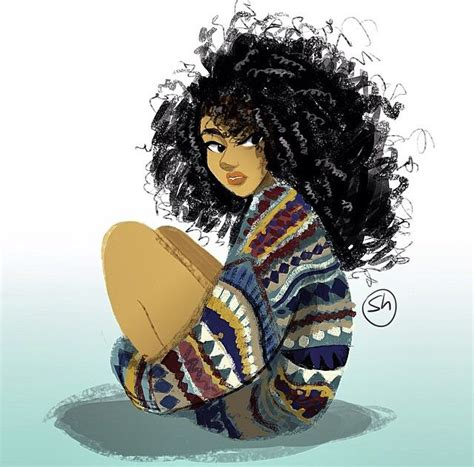 www tumblr afro amercian female pubes natural hair art illustration315 black art