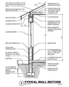 exterior wall section exterior wall section details conclusion drafting
