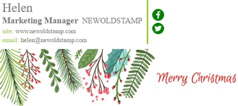 choose  perfect christmas banner  email signature newoldstamp