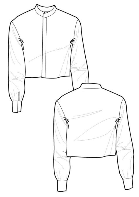 drawing jacket pattern ralph pink cropped jacket sewing patterns pinterest