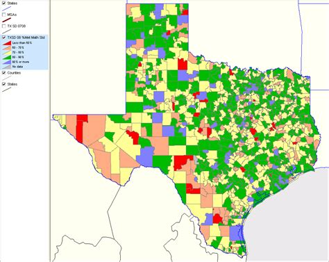 texas independent school districts map texas school district performance analysis