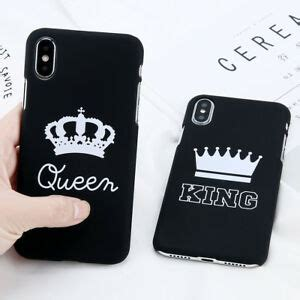 king queen couple matte hard case cover skin  apple iphone xs max xr    ebay