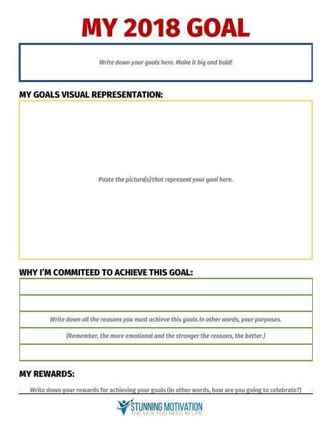 setting goals template 11 effective goal setting templates for you