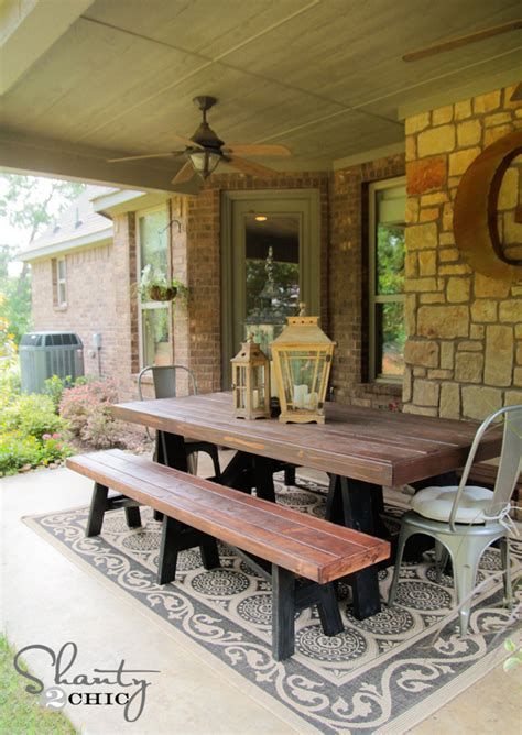 diy outdoor table and bench ana white sawhorse outdoor bench diy projects