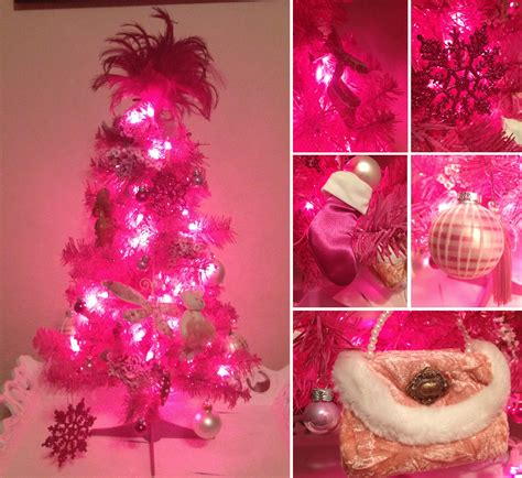Oh Christmas Tree Nyc Cake Girl Small Pink Tree With Lights