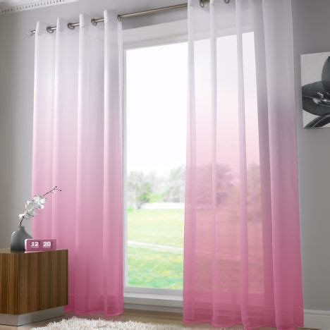 washing voile curtains harmony fuchsia pink voile curtain panel ring top