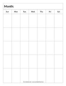 blank calendar template with picture space blank calendar printable my calendar land