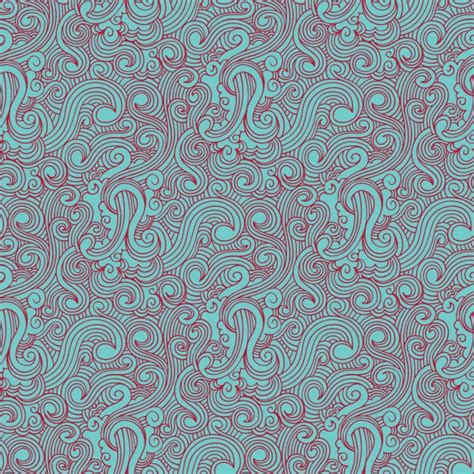 pattern swirl vector swirl red and light blue drawn pattern vector free download