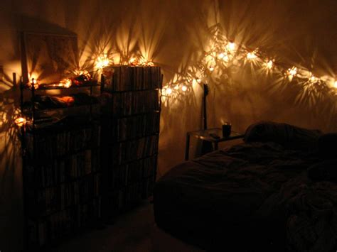 Small Bedroom Lighting Ideas With Hanging String Twinkle Decoration Lights For Bedroom