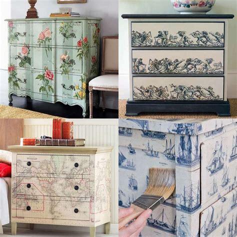 Vintage Decoupage Furniture - verschiedene varianten f 252 r shabby chic schrank mit