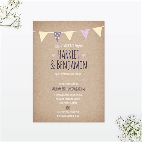 Country Bunting Evening Invitation Love Invited Luxury Wedding Invitations And Stationery Celebrate It Templates Place Cards
