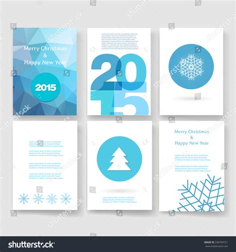 templates brochure happy new year set of abstract vector modern brochure design template