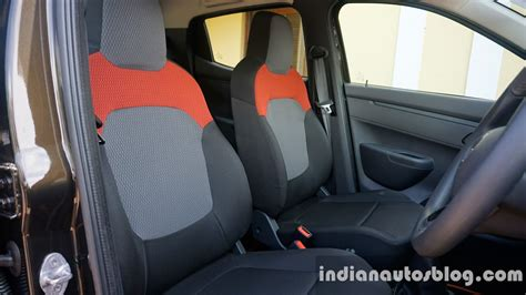renault kwid interior seat renault kwid front seats review indian autos blog