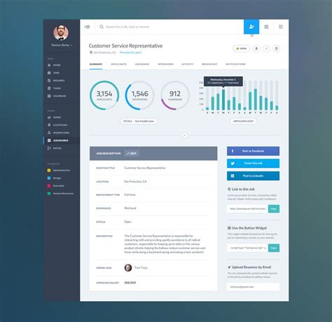 web layout designer job 20 exles of beautifully designed admin dashboards