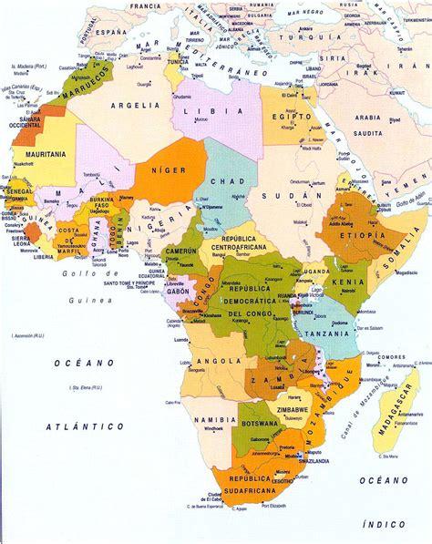 europa y africa mapa politico mapa politico de africa grande los pa 237 ses de africa en colores