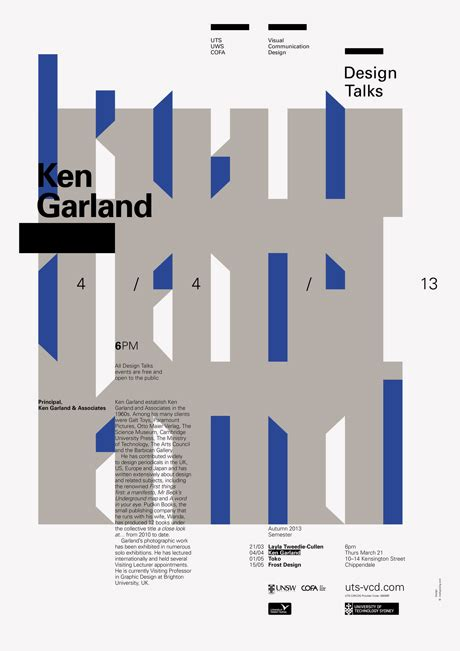 design in visual communication uts love design don t miss ken garlands tour in australia