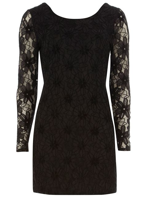 Black Long Sleeve Lace Dress Dorothy Perkins United States Black Sleeve