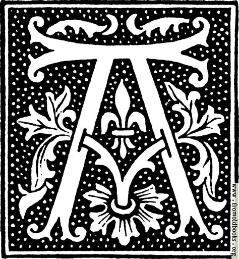 Inisial A clipart initial letter a from beginning of the 16th century