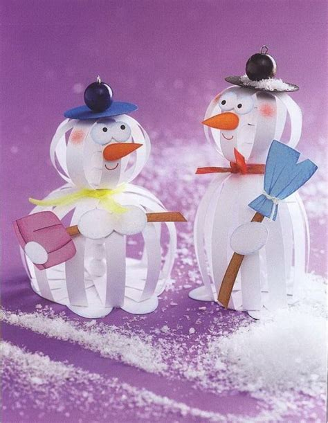 Nicky P Papercrafts - crafts snowman crafts winter crafts paper