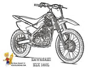 motorbike coloring pages free kawasaki fmx motorbike