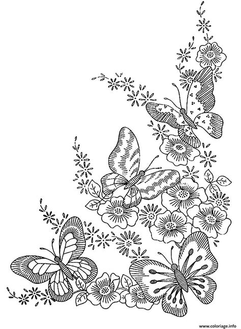 coloring pages of birds and butterflies coloriage adulte difficile papillons dessin