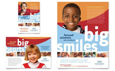 community non profit flyer ad template design