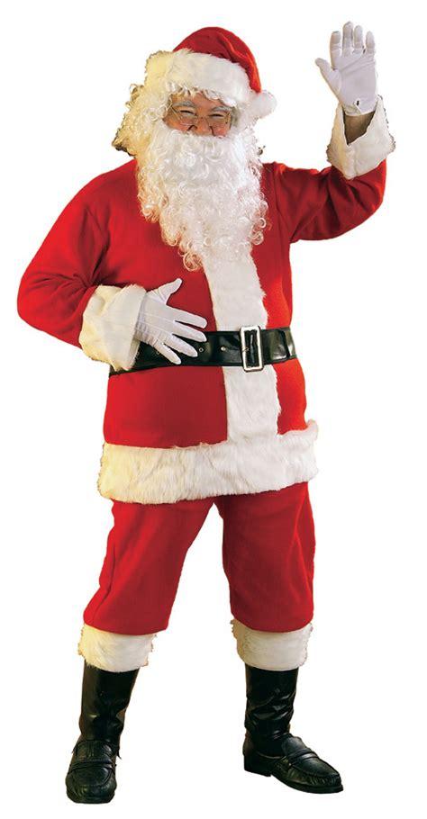 large santa suit santa claus costume xl flannel santa suit
