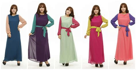 Busana 2 Colour busana n scaft collection joint color chiffon with belt