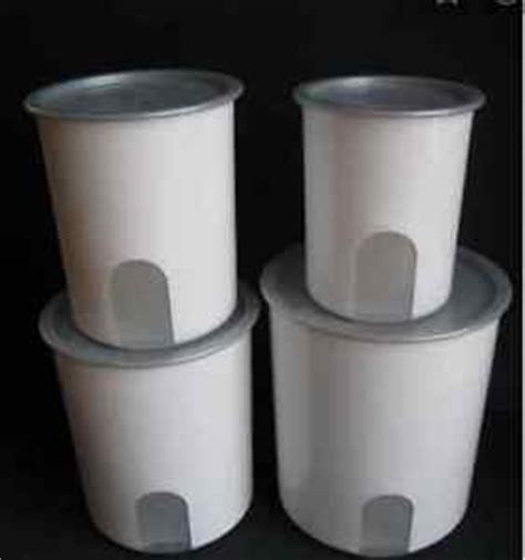 Tupperware Window Canister tupperware reminder window canisters set one touch silver seals brand new ebay