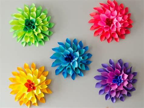 decorar interiores con flores flores de papel para decorar el interior de vuestra casa