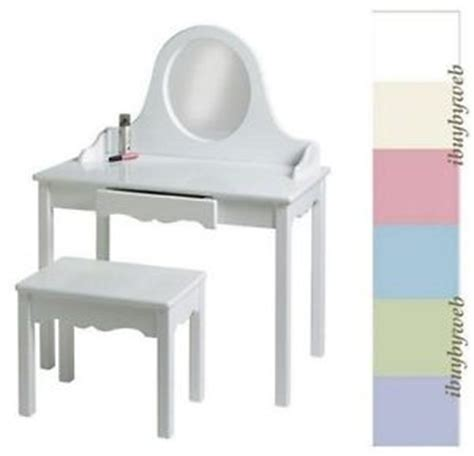 Children S Vanity Table Set by Vanity Table Bench Set White Pink More New Ebay