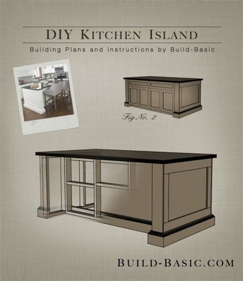 easy building plans build a diy kitchen island with free