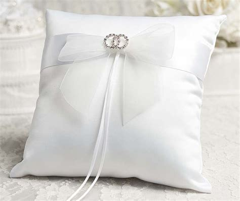 Ring Pillow by Rhinestone Rings Wedding Ring Bearer Pillow