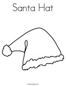 santa hat coloring page santa hat template to print search results calendar 2015