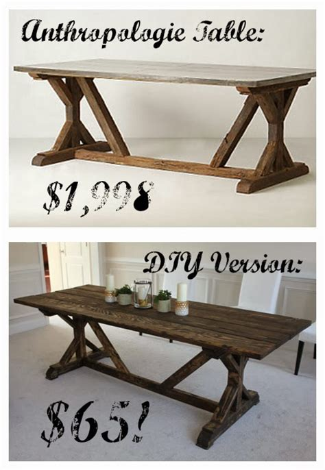 Farmhouse Dining Room Table Plans by Diy Anthropologie Knockoff Farmhouse Table For Only 65