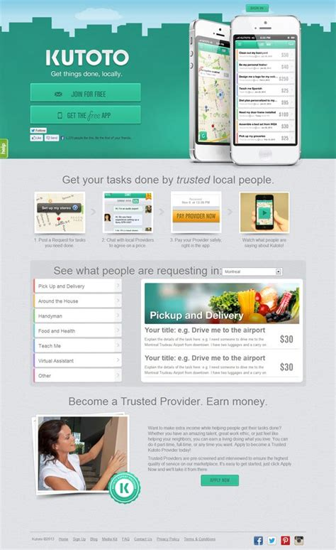 web app homepage design 1000 images about ios app website layout on pinterest