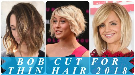 hairstyles for fine hair youtube bob hairstyles for thin hair 2018 youtube