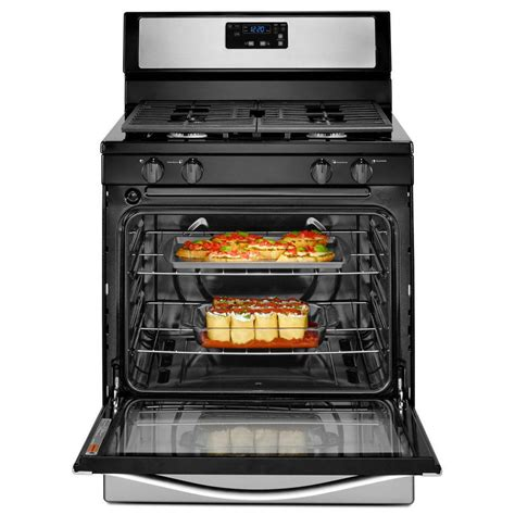 Oven Gas Standar wfg320m0bs whirlpool 5 1 cu ft standard clean gas range stainless steel michael s appliance