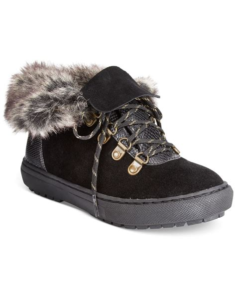 cold weather sneakers sporto snug lace up faux fur cold weather sneakers in