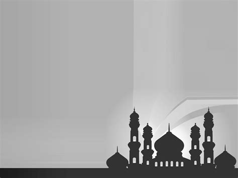 silhouette of mosques islamic background ppt backgrounds