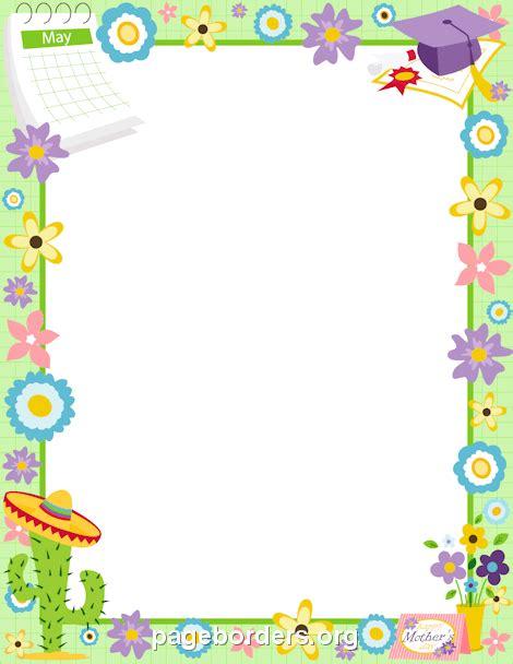 May Borders Clipart may border clip page border and vector graphics