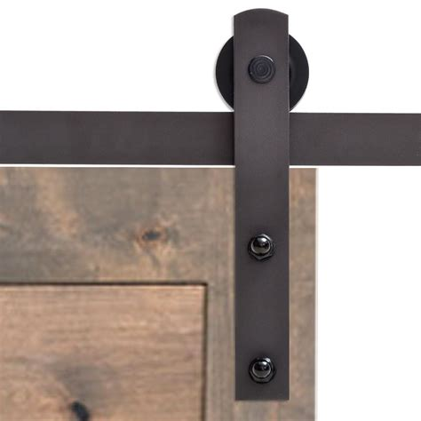 Calhome 72 In Antique Bronze Classic Straight Strap Barn Barn Style Sliding Door Hardware