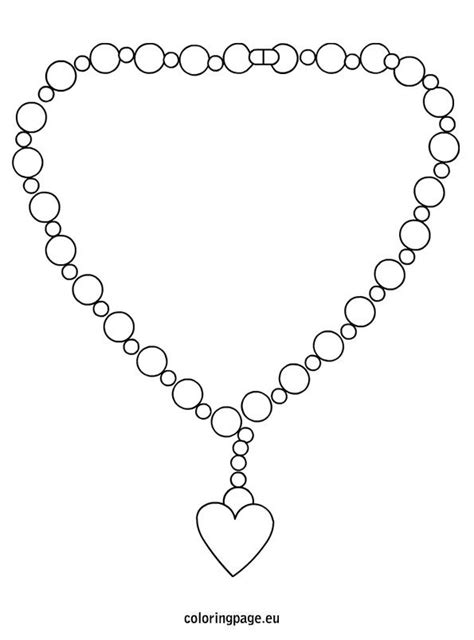 jewelry clipart coloring page pencil and in color