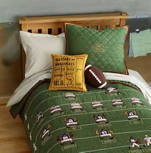 football themed hut hut hike bedding for children